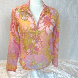 Anthropologie Moth 70's inspired floral tunic med